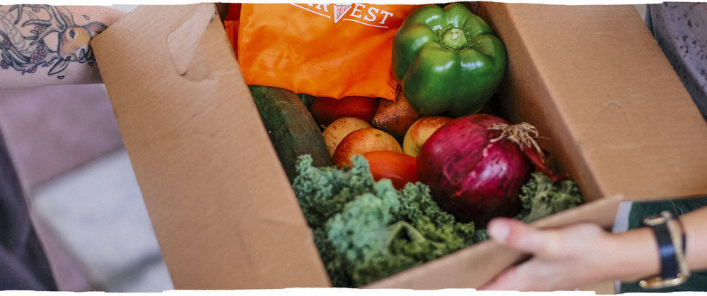 Delivering farm to doorstepfruits & veggies on a missionto end food waste & hunger! -
