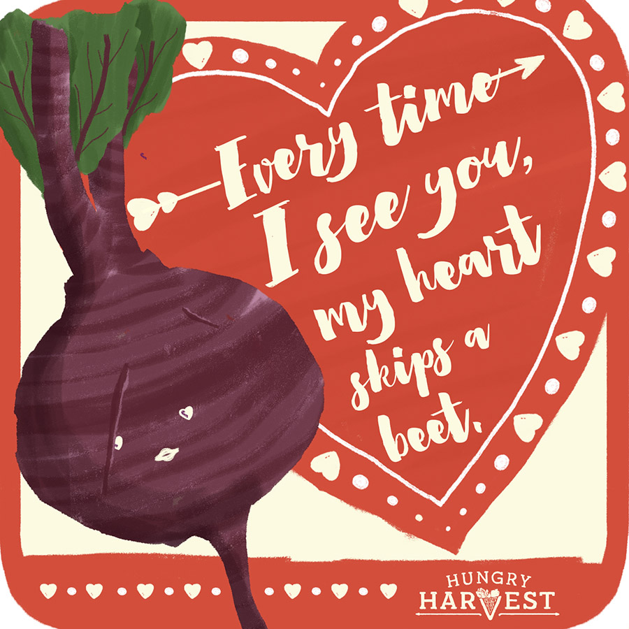 Heart Skips A BeetShareable Square - Want to send the beet to all your pals on social? Just click the download button below & share away!