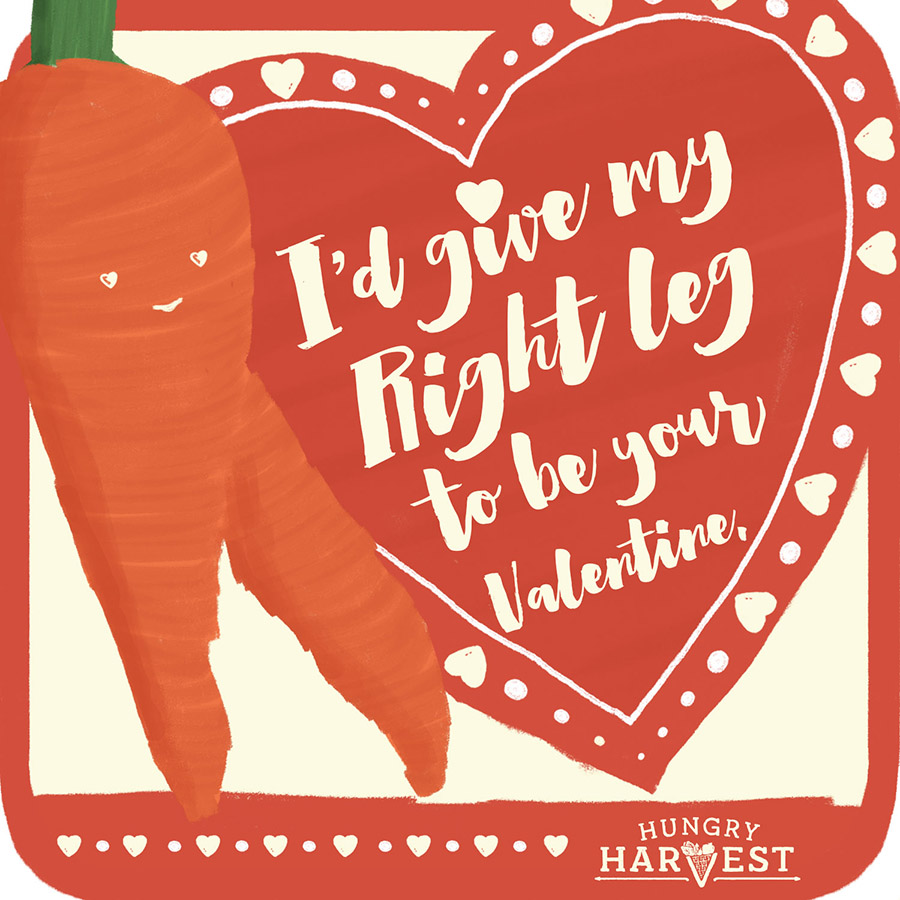 I'd Give My Right LegShareable Square - Want to send the carrot love to all your pals on social? Just click the download button below & share away!