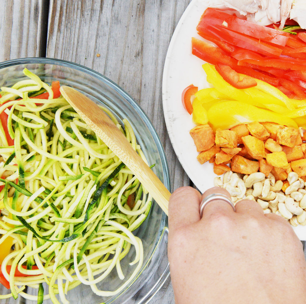 2. Pack a healthy lunch. - When you bring your lunch from home, not only do you tend to save money and eat healthier, but you also tend to pack the correct portion size. Not to mention packed lunches help reduce food and packaging waste by using it as an opportunity to eat up leftovers stored in a reusable container.