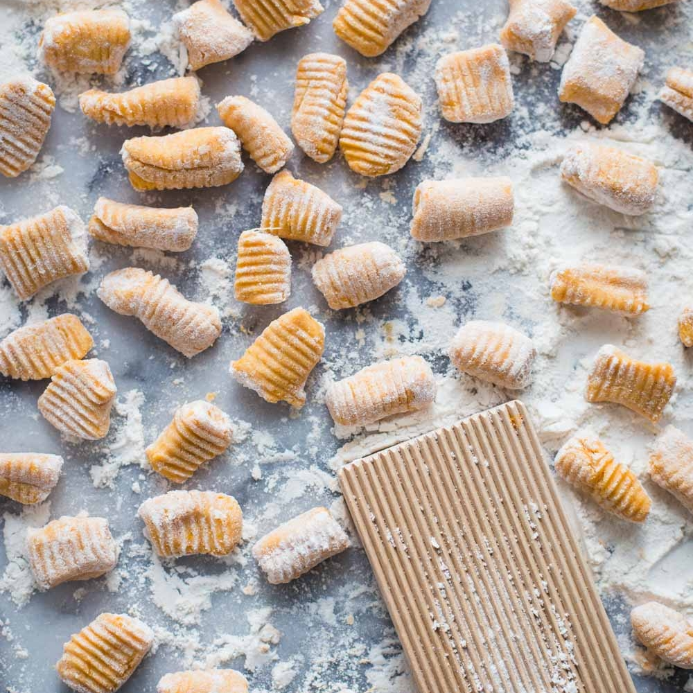 4. Three-Ingredient Sweet Potato Gnocchi - It could not get easier. Also, trust us, it is not lacking in flavor. The natural sweetness of the sweet potato really makes this a hit. It would also pair well with a brown butter and sage sauce.VIEW RECIPEPhoto: Food with Feeling