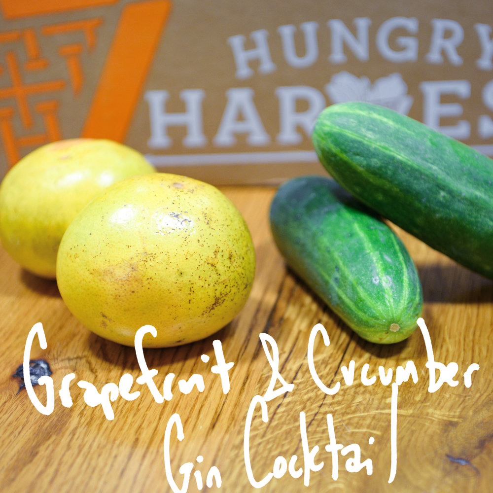 Cucumbers and Grapefruit pair perfectly together is this pretty and refreshing cocktail. - Find the recipe at: Pumpkin + Peanut Butter