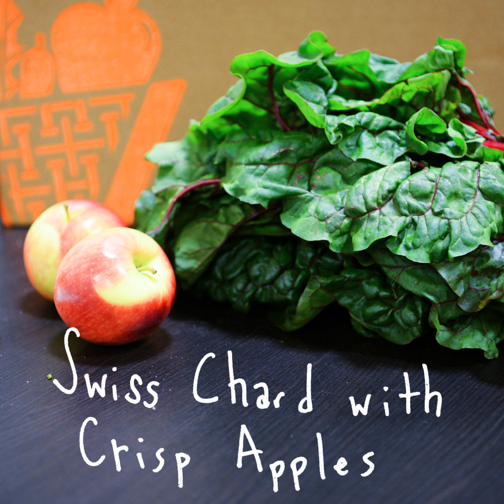 Apple & plumped raisins help sweeten the bitterness of Swiss chard. - Find the recipe at: Fat Free Vegan
