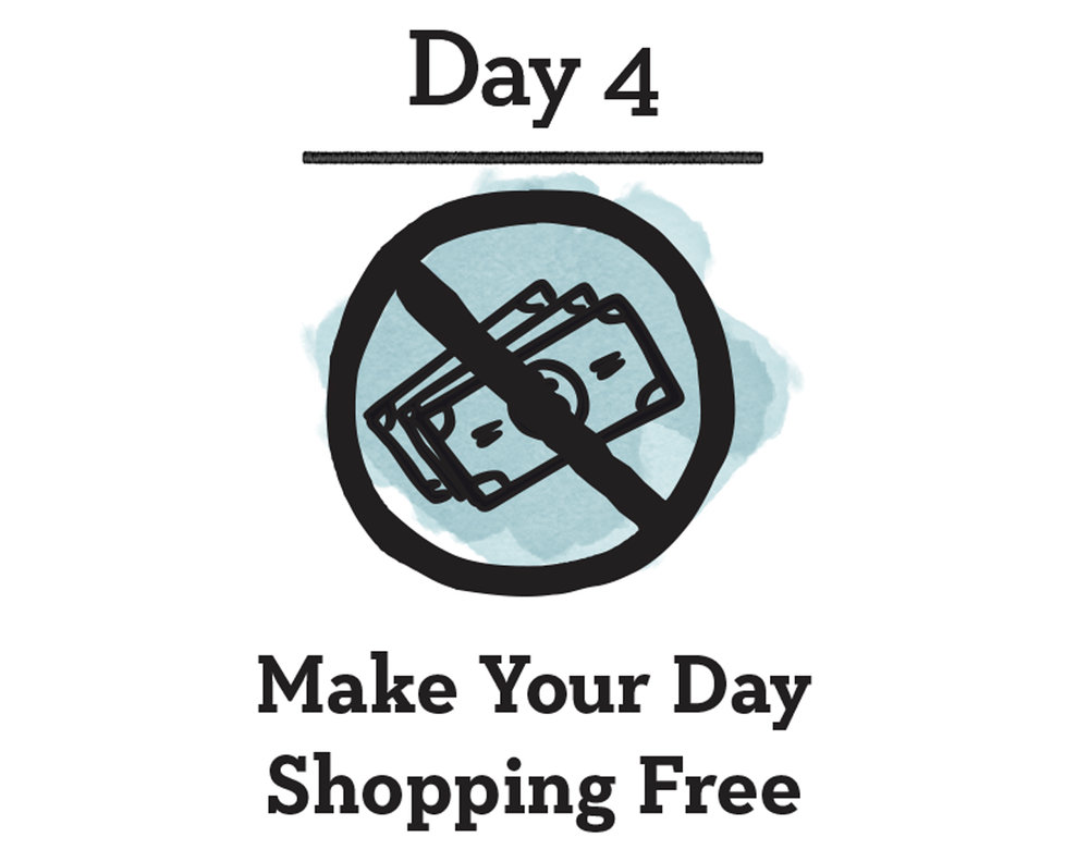 - Good For You:Taking a day off from making purchases not only helps save you time & money, it also forces you to think more strategically about how & where you want to spend it. Adopting a practice of mindful consumerism encourages you to vote with your dollar to support companies that share your values.Good For The Planet:The mass production of items has a great impact on our natural resources, from those used to create them, package & transport them, to those used to eventually dispose of them. By pressing pause on this cycle today we give ourselves time to reflect on how we can ultimately play less of a role in this process.