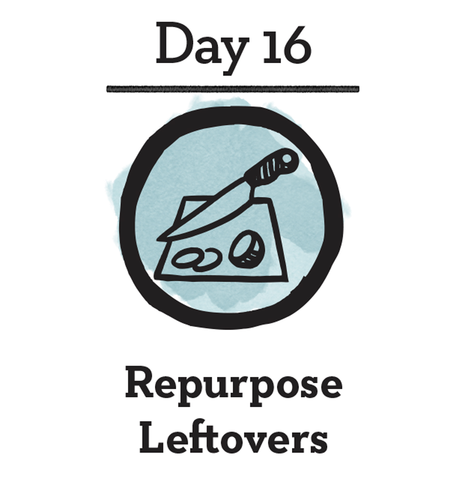 """- Good For You:Save time, save money and plan an """"eat the leftovers"""" night each week or when cleaning up after dinner, simply portion out your leftovers into containers to take to work or school for lunch. The good news is that by eating your leftovers, a lot of the work is already done for you. If you really want to get creative, try repurposing your meals to create shortcuts for new meals, like adding pre-cooked veggies into frittatas, sauces or rice bowls.Good For The Planet:The EPA estimates that about 94% of the food we throw away ends up in landfills or combustion facilities. But it's not just scraps and rotten produce that we tend to toss, uneaten leftovers make up a big portion of our waste. The NRDC reported that prepared foods or leftovers make up about 23% of the food that lands in trash cans."""