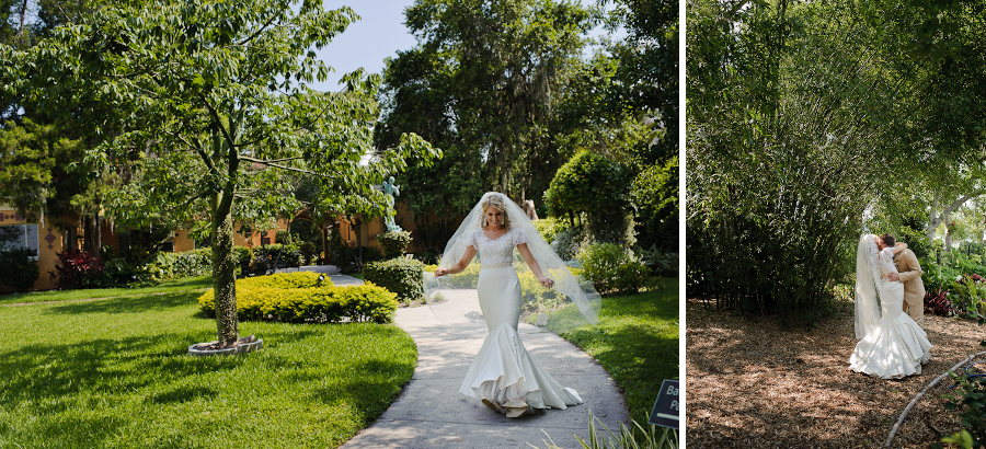 Beautiful Albin Polasek Museum Gardens Winter Park Wedding
