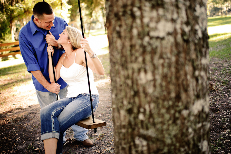 Santa Fe River Ranch | swing in a tree | engagement photography