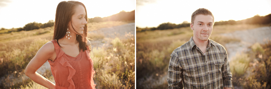 November Light Engagement Session | Lakeland, FL | Golden Field
