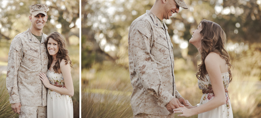 Marine & Fiance | Lakeland Engagement Photography | Natural Light