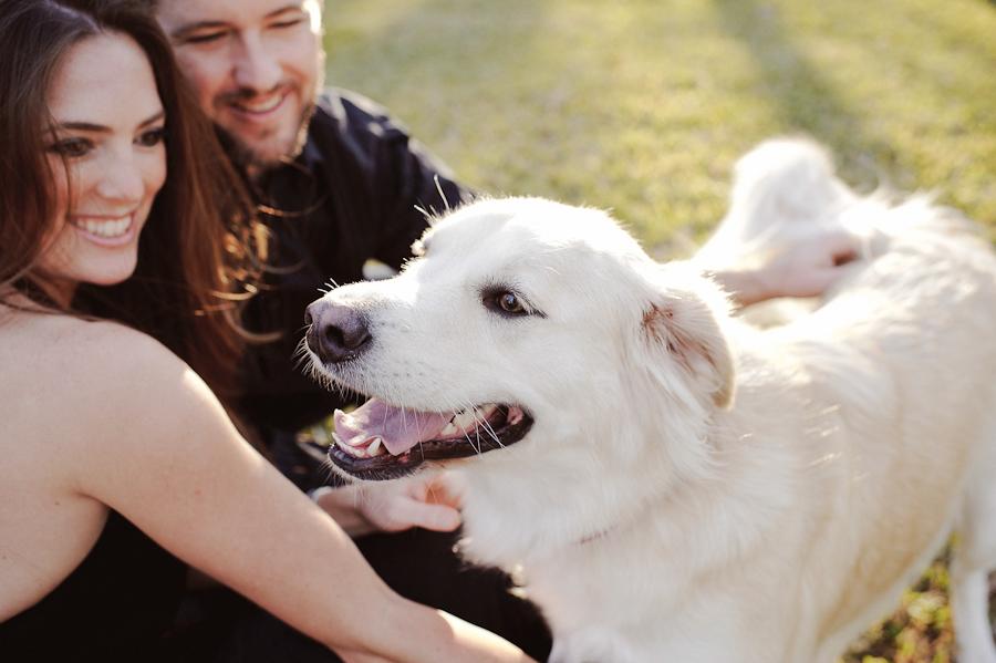 Engagement session with dog | Daytona Beach Wedding Photography