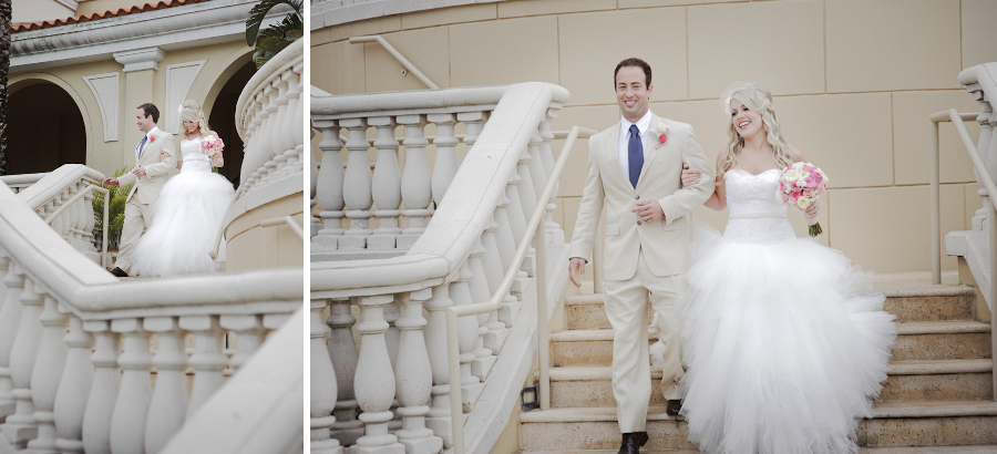 The Ritz Carlton Wedding | Sarasota FL |  Outdoor Reception Staircase