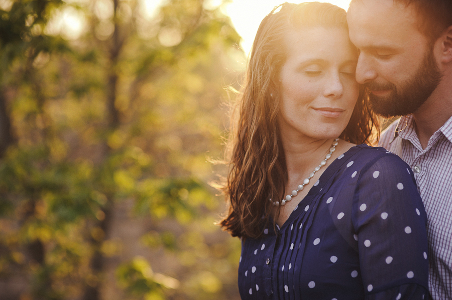 Sun Flare Engagement Photography