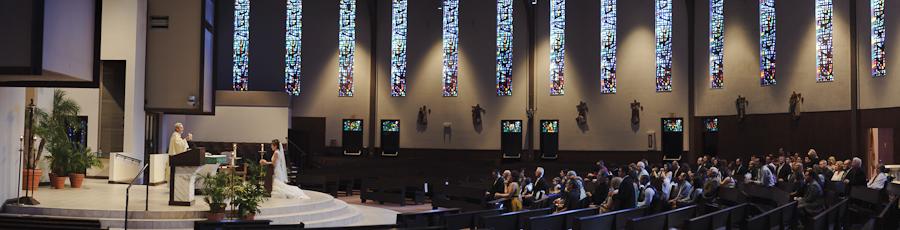 Winter Park Wedding at St. Margaret Marys Catholic Church