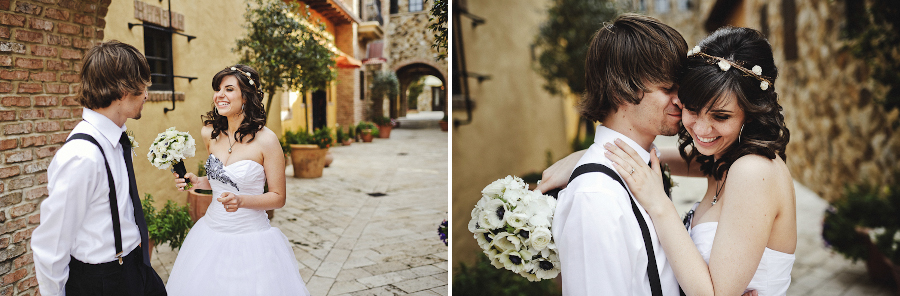 Bride and Groom Frist Look at the Bella Collina