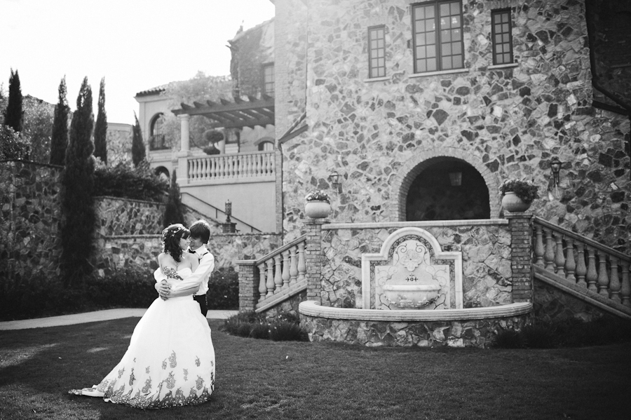 Couple in front of the Bella Collina