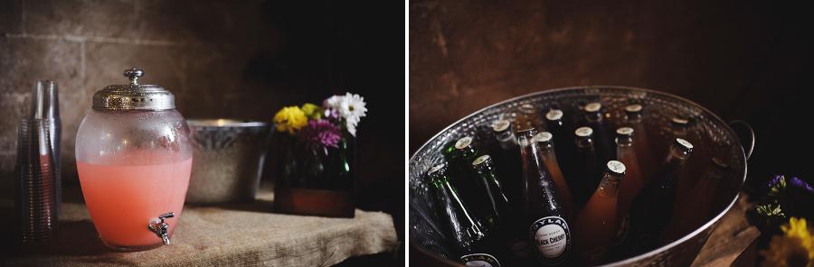 DIY Wedding Details | Rustic Drink Table