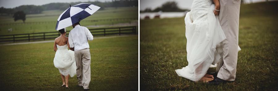 Barrington Hill Farm FL | Bride and Groom in the Rain