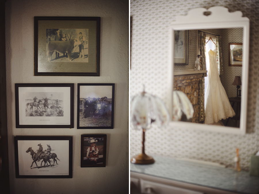 wedding dress in antique room | santa fe river ranch