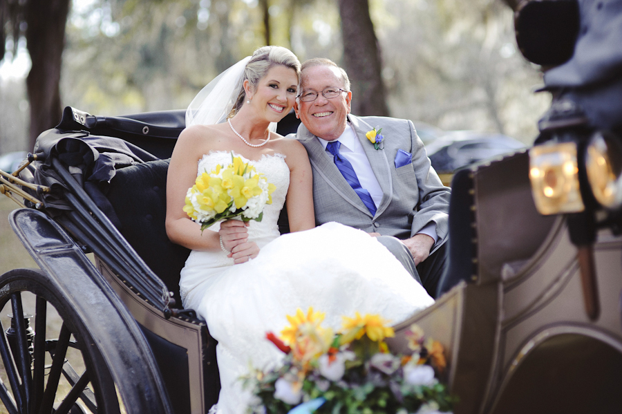 Bride and Father | Horse and Carriage