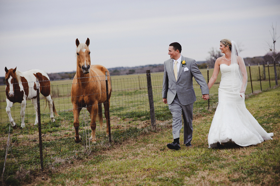 bride and groom with horse | santa fe ranch