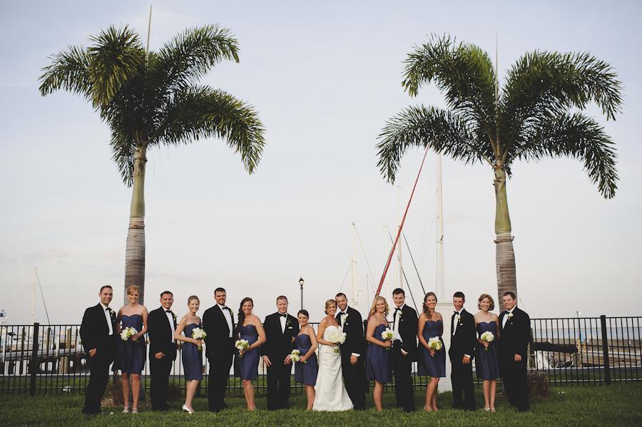 Tampa Bay Yacht Club Wedding Palm Trees