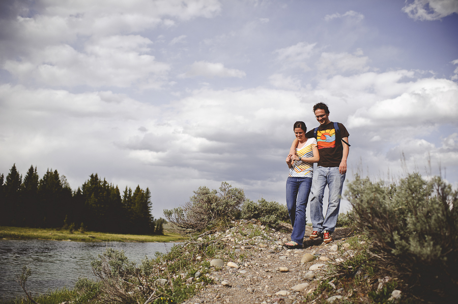 engagement photography in the grand tetons