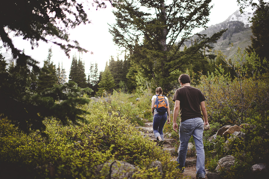 hiking grand teton national park, engagement photography
