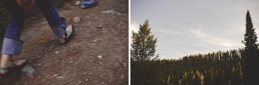 hiking grand teton national park, engagement photography