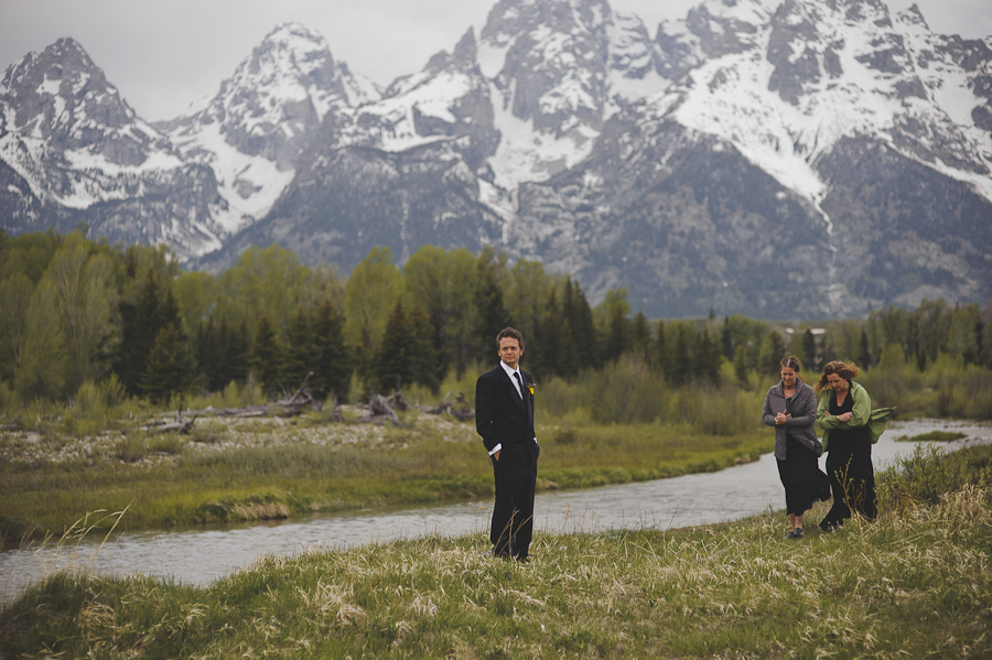 wedding in the grand tetons