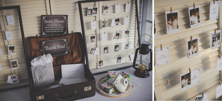 instant camera, wedding, guest book