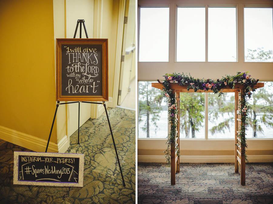 DIY wedding chalk sign
