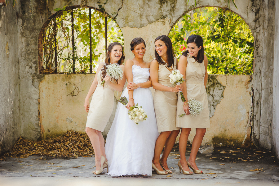 neautral bridal party