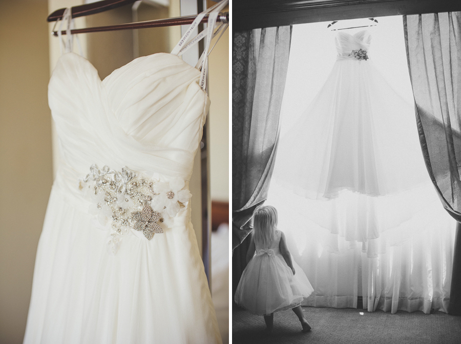 flower girl, wedding dress