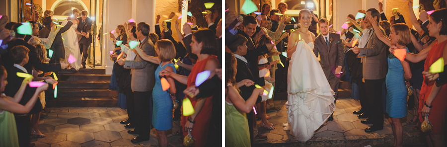 glow stick wedding exit