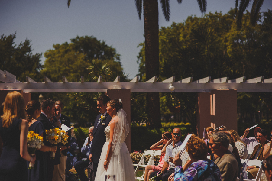 renaissance vinoy, st pete, tea garden wedding
