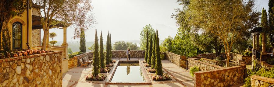 bella collina, courtyard wedding