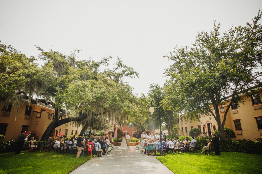 outdoor florida wedding oak trees