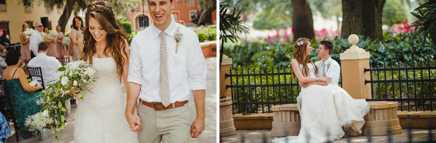 outdoor florida wedding under oak trees