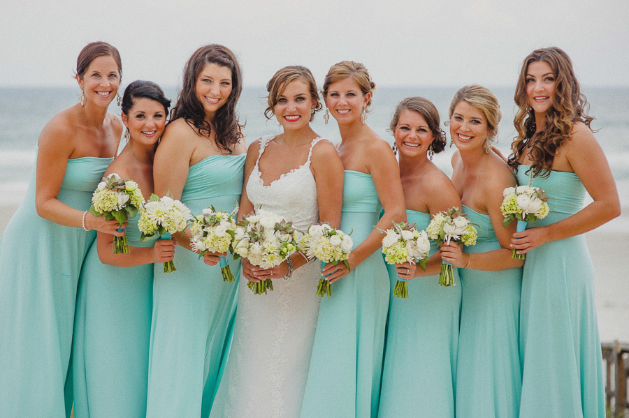 teal chiffon bridesmaids dress
