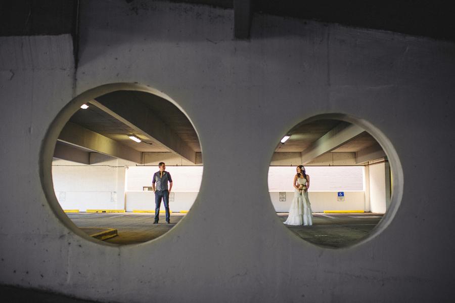 parking garage wedding