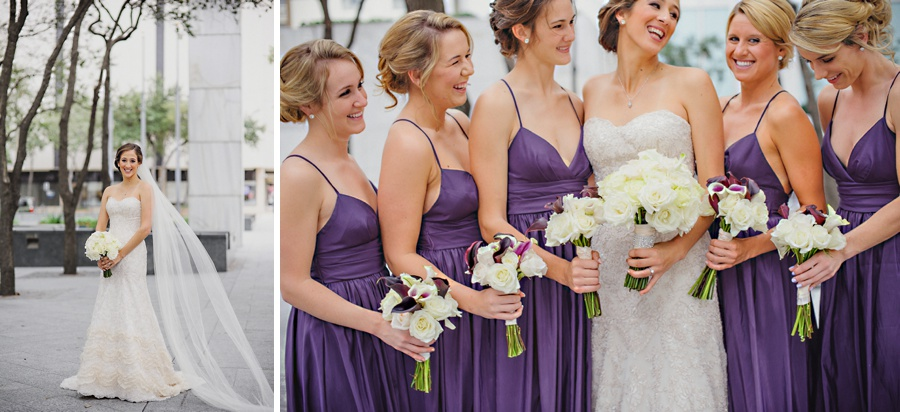 eggplant bridesmaids dresses