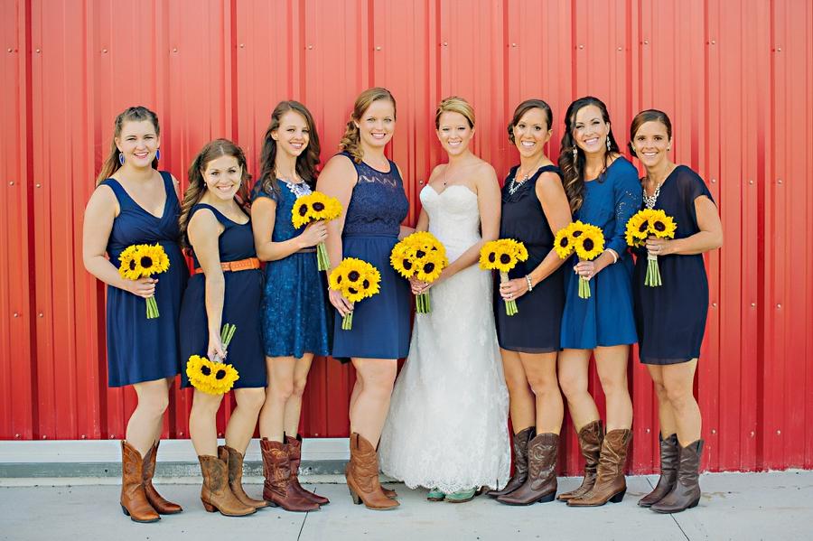 sunflower bouquets bridesmaids