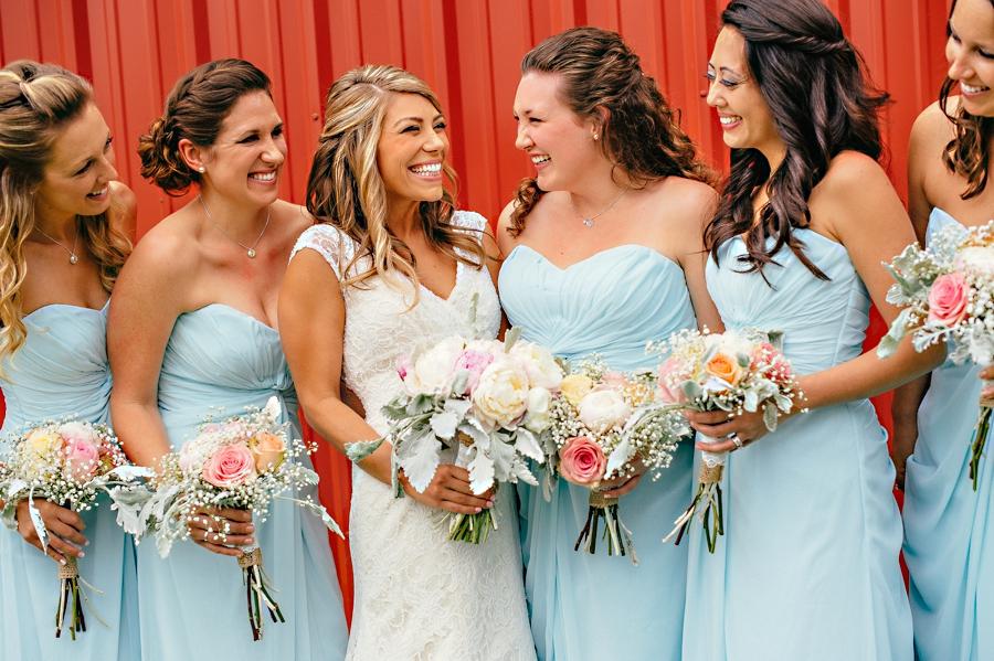 Debbie Willingham Flowers Teal Bridesmaids dress