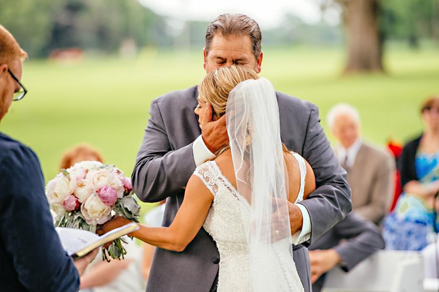 Father giving daughter away florida wedding