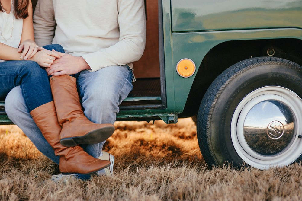 vw van engagement session
