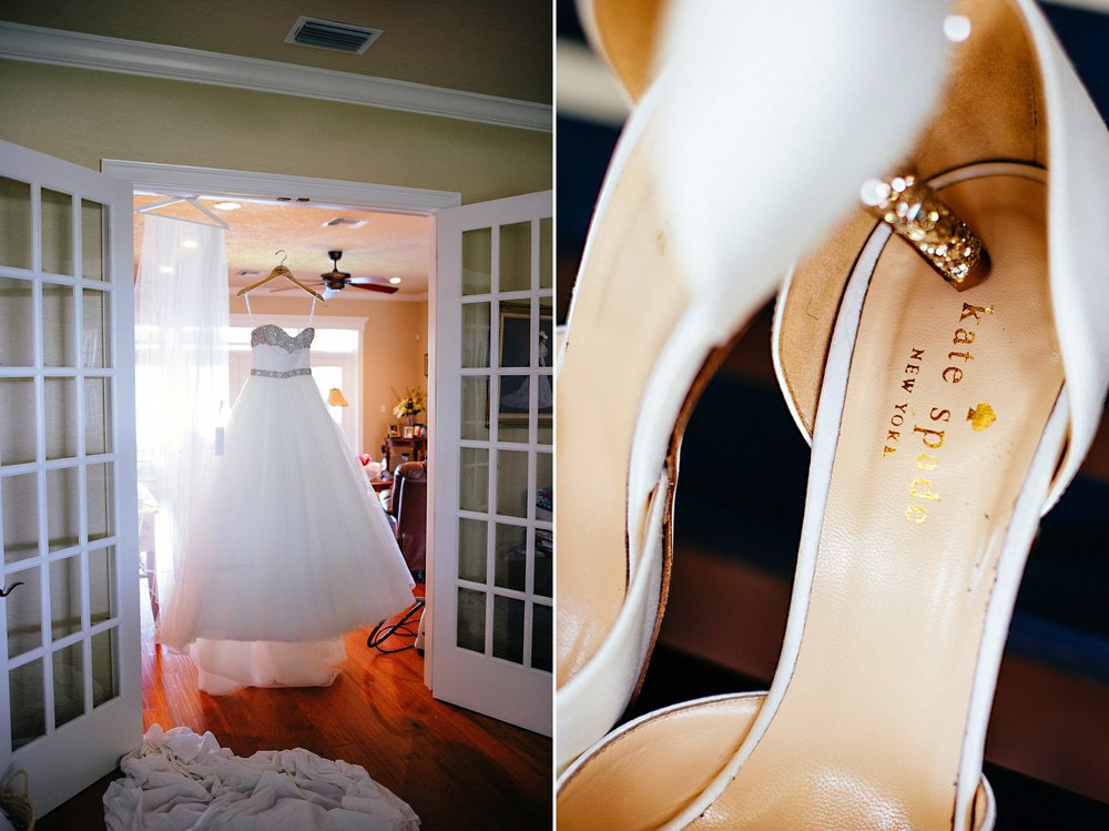Malindy Elene Bridal Couture Wedding Dress & Kate Spade Shoes
