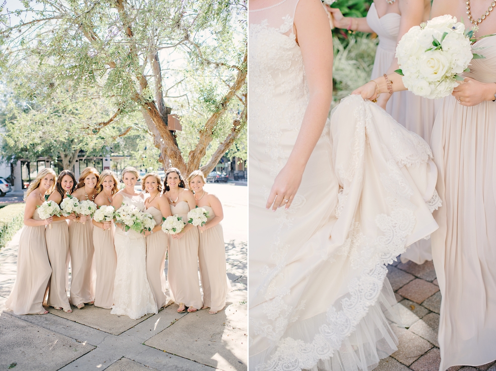 Classy Champagne Long Bridesmaids Dresses