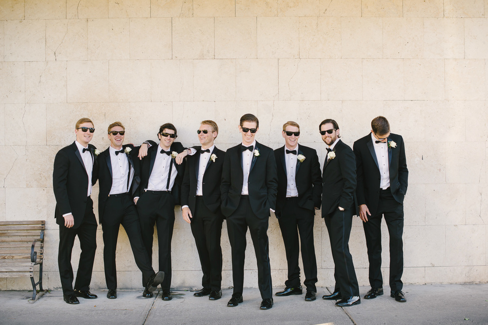 black tuxes with black bowties
