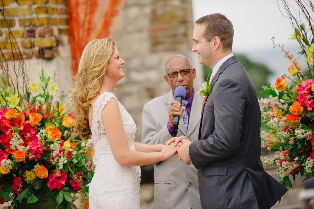 wedding in ancient island ruins