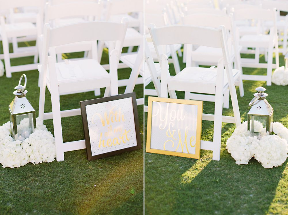 Cute Gold Wedding Details